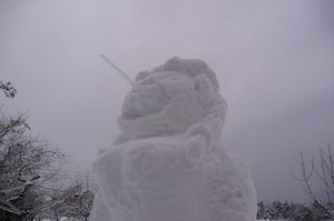The snow woman from another angle